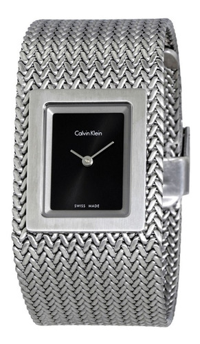 Calvin Klein K5l13131 Malha Aço Inox 12x S/juros Promoção!!!