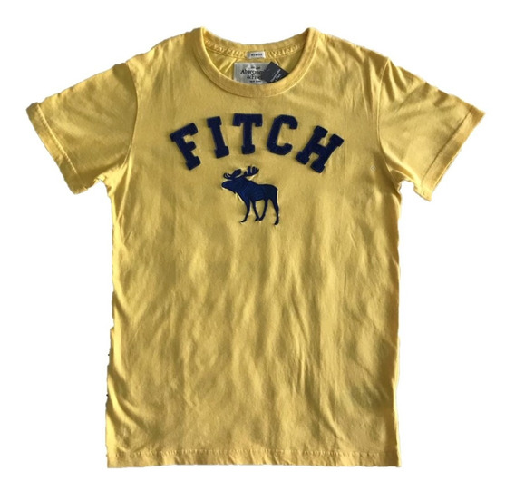 Camiseta Abercrombie & Fitch Aplique Em Alto Relevo G
