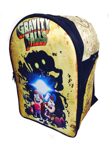 Gravity Falls Mochila Escolar Backpack Bill Cipher Dipper