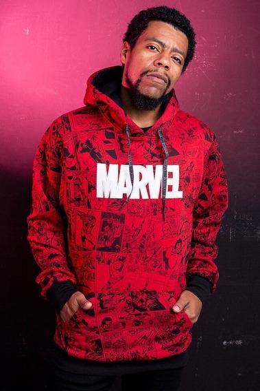 Moletom Hoddie Marvel Vermelho