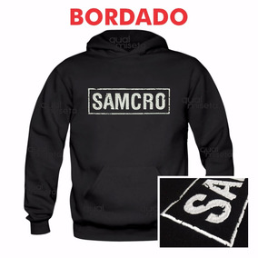 Canguru Bordado Samcro Moletom Sons Of Anarchy Moleton Blusa