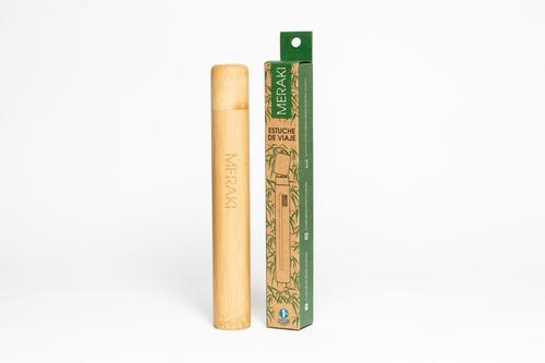 Estuche De Viaje Porta Cepillo Meraki Bambú