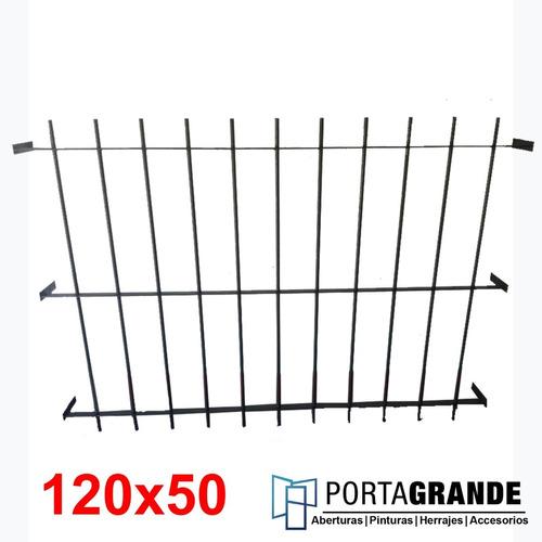 Reja Para Ventana 120x50 Barrote Hierro Del 12