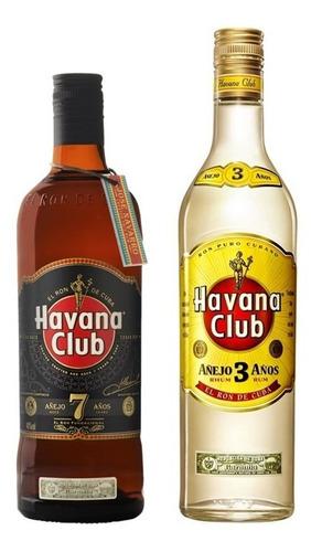 Kit Rum Havana 7 Anos 750ml + Rum Havana 3 Anos 750ml