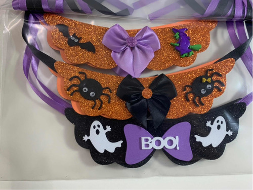 Imagem 1 de 1 de Pets Gravatinha Feminina Halloween - 6 Unidades