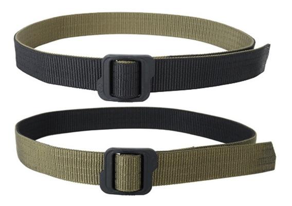 Cinturon Tactico Doble Cara Hebilla Ajustable Uso Rudo