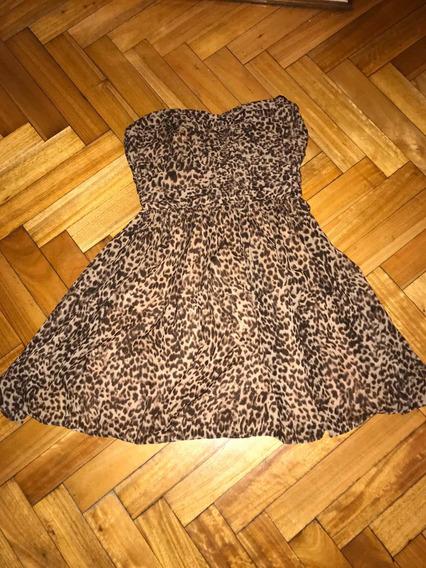 Vestido Leopardado Xs Guess