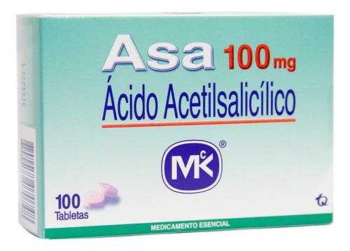 Asa 100mg Caja  X 100 Tabletas