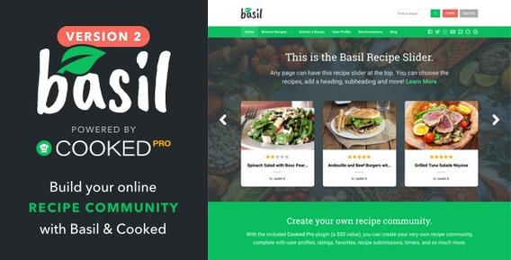 Basil Recipes V2.0.1 A Recipe-powered Wordpress Theme