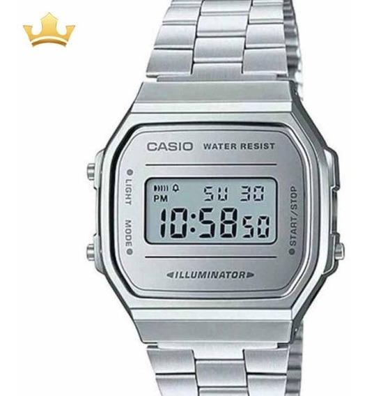 Relógio Casio Vintage Feminino A168wem-7df Com Nf