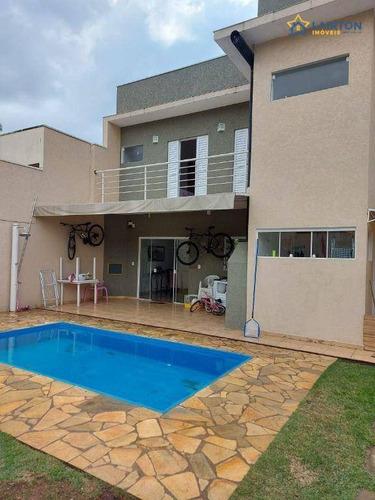 Casa Com 3 Dormitórios À Venda, 166 M² Por R$ 650.000,00 - Jardim Morumbi - Atibaia/sp - Ca0093