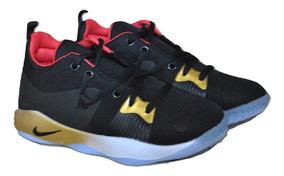 Kp3 Zapatos Niños Niñas Nike Paul George 2 Negro Dorado