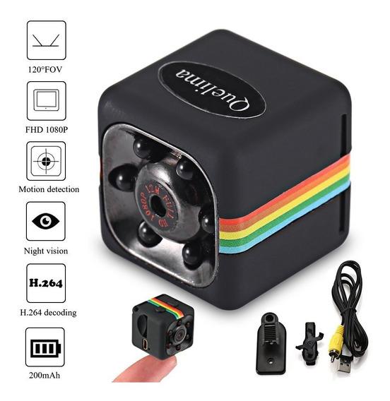 Mini Câmera Espiã Quelima Sq11 1080p Hd Dvr Visão Noturna