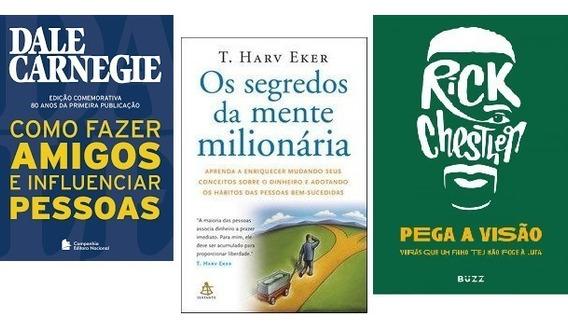 Kit Como Fazer Amigos / Segredos Da Mente / Pega Visao