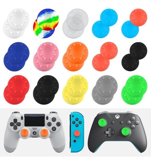 2 Gomas Joystick (1 Par) Thumb Silicon Ps4 Xbox Palanca Grip
