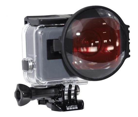Gopro Lente Macro +filtro Rojo Para Hero 5,6,7 -h5b-swchss