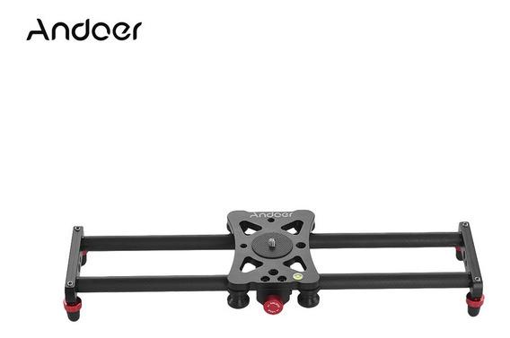 Andoer 40cm Portátil Mini Fibra De Carbono Track Slider