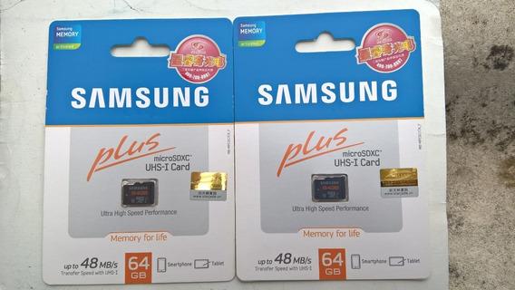 Cartão Microsd Samsung 64gb ( 02 Unidades )