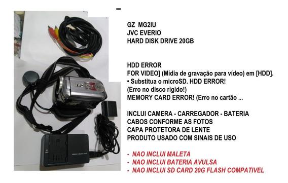 Camera Filmadora Jvc Everio Hdd Hard Disk Drive Sem Sd Card