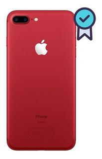 Carcaça Aro iPhone 7 Plus Red Chassi Traseira + Botões