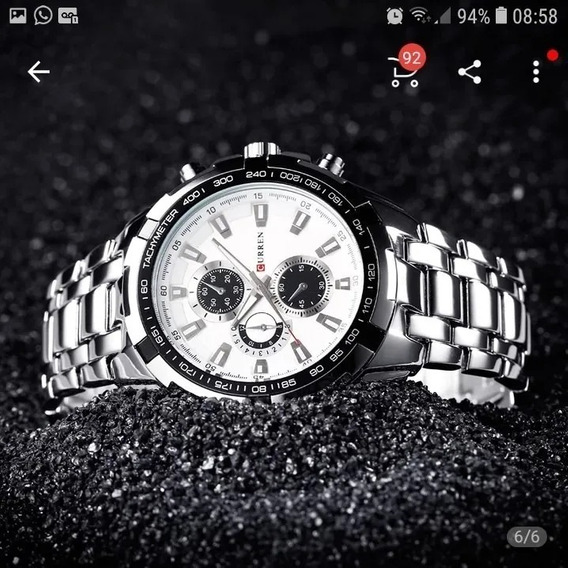 Relógio Curren Masculino Original Oferta Aço S.50