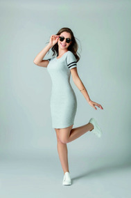 Vestido Sport Color Gris