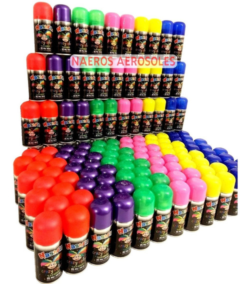 Pinta Pelo X100 Pintura Lavable Colores En Aerosol Cotillon