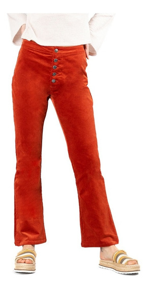 Pantalon Mujer Rusty Tell Me All Cord Flare Terra