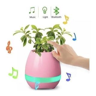 Parlante Bluetooth Maceta Con Luz Led Musica Planta Portatil Zona Congreso - Diem Store!