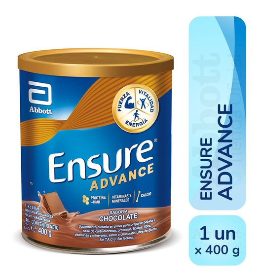 Ensure Advance En Polvo X 400 Gr Vainilla Chocolate Frutilla