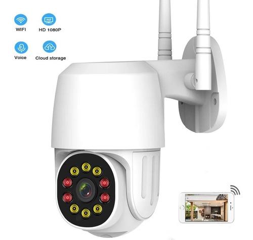 Imagen 1 de 7 de Ation Cámara De Seguridad Hd Wifi 10 Led 1080p Con Alarma