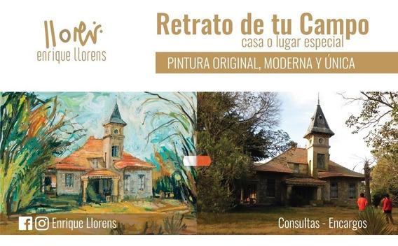 Pintura Original De Tu Campo Por Encargo Obra De Arte
