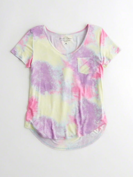 Camiseta Hollister Malha Fria Colorida Original.