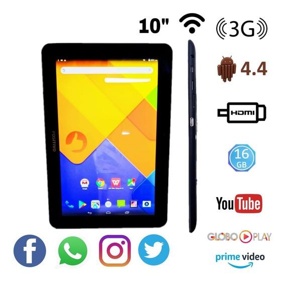 Tablet Positivo T1060 16gb/1gb Tela 10.1 3g Faz Ligações