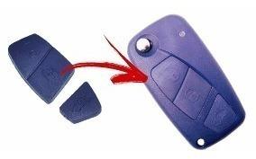 Capa Chave Canivete Fiat Palio Punto Idea Stilo3 Botoes Azul