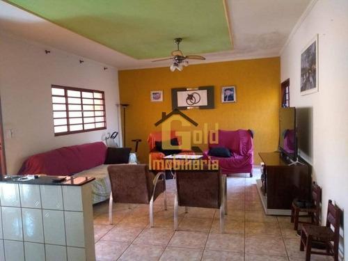 Casa Com 3 Dormitórios À Venda, 140 M² Por R$ 410.000 - Parque Residencial Cândido Portinari - Ribeirão Preto/sp - Ca0934