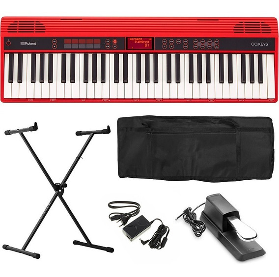 Teclado Roland Go Keys Bluetooth Go-61k Kit Completo Go61k