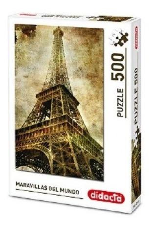 Puzzle 500 Piezas - Didacta Torre Eiffel Arte Y Museos Paris