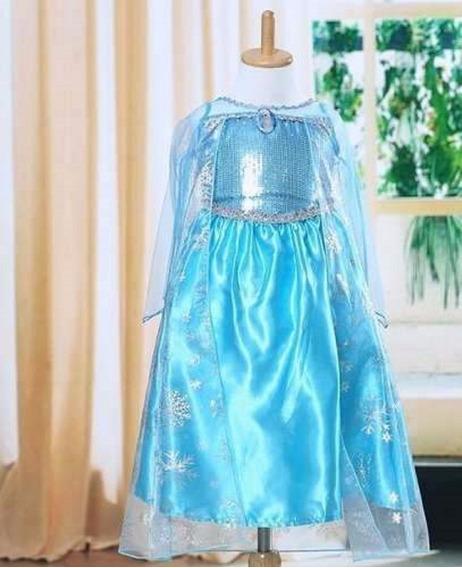 Vestido Princesa Elsa Frozen Menina Festa Aniversário Codfz1
