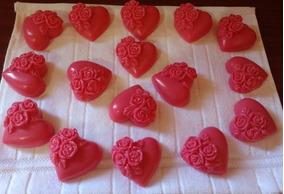 100 Coração Flores Sabonete Perfumados