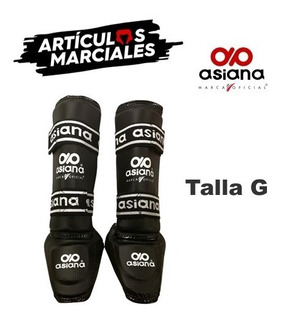 Ideal Kickboxing Asiana Espinilleras Con Empeinera Negras G