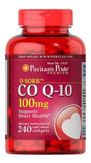 Coenzima Q10 100 Mg 240 Softgels Puritans Pride Cod. 185