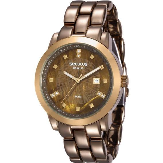 Relógio Feminino Aplause 20422lpsvma2 Chocolate | Seculus
