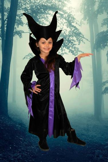 Disfraz Malefica Niñas. Halloween Cotillon Chirimbolos
