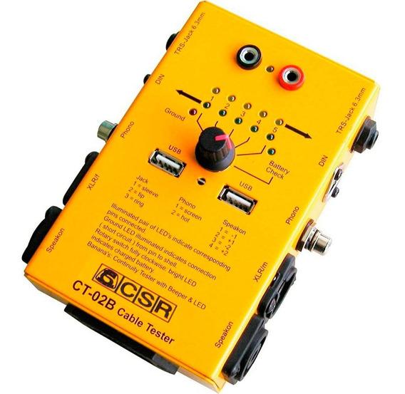 Teste Cabos De Áudio Xlr Trs Rca Pd10 Speakon Usb Testador