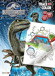 Bendon Jurassic World Trace Y Color Coloring And Activity Bo