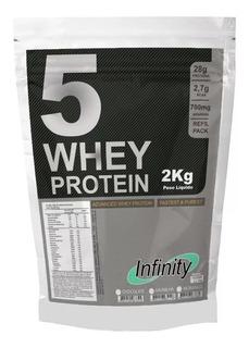 Whey Protein 5w Isolado Concentrado Hidrolisado 2kg Mdrol