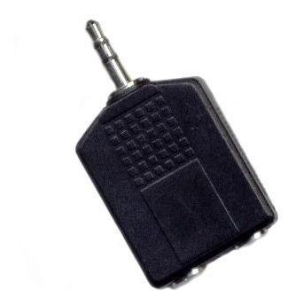 Ficha Adaptadora Plug St 3.5 2 Jack St 6.5