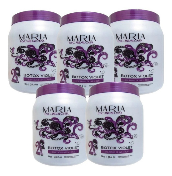 Kit 5 Maria Escandalosa Botox Matizador Violet 1kg