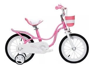 Bicicleta Infantil Niña Royal Baby Little Swan Rodado 16